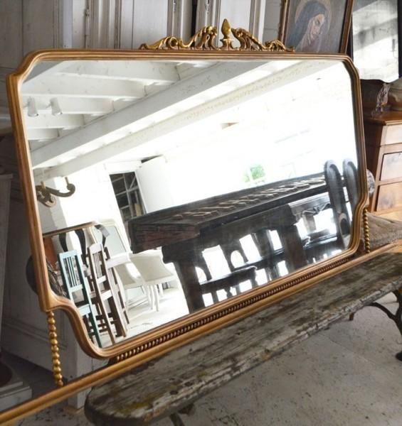 Large Italian Gilt Wood Mirror