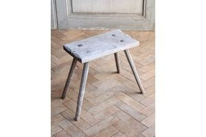 Thumb vintage rustic folky wooden milking stool side table 0