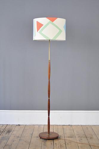 Decorative Danish Rosewood Floor Lamp photo 1
