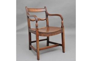 Thumb early 19th century ash and elm armchair 0