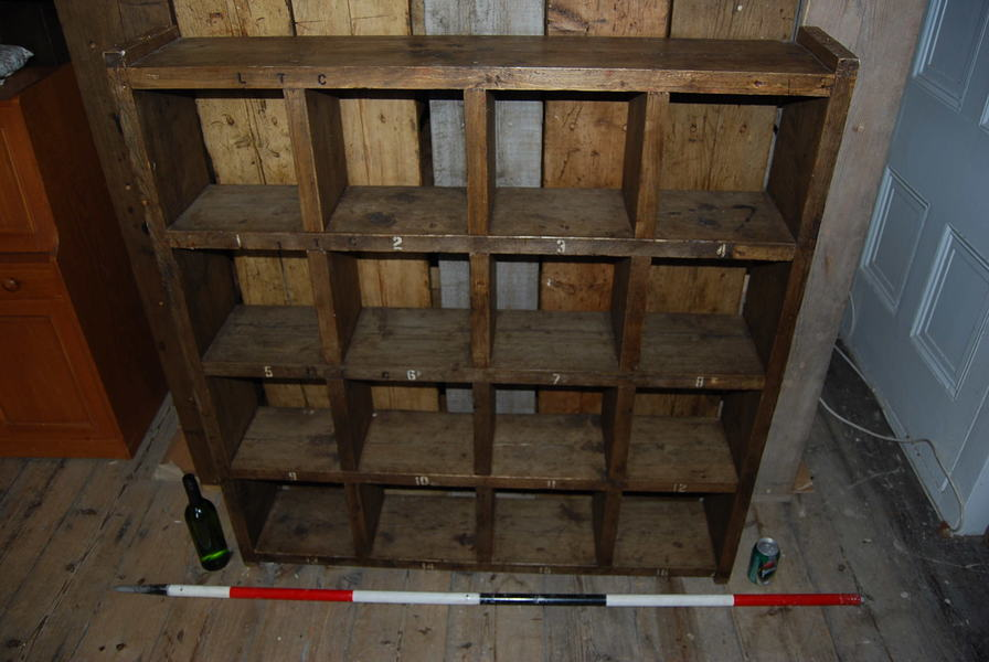 Bookcase Pigeon Holes Shoe Tidy Storage Reclaimed Wood Industrial Rustic