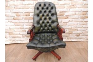 Thumb directors captains chesterfield unique dark green chair 0