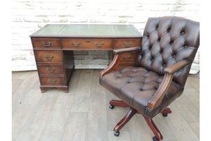 Thumb quality captains desk chesterfield chair 0