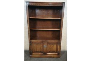 Thumb wood bros old charm hatfield open bookcase tudor brown 0