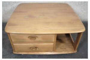 Thumb ercol solid elm mid century pandora box coffee table 0