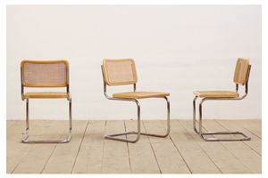 Thumb 3x mid century modernist marcel breuer blonde cesca style bauhaus side chairs 0