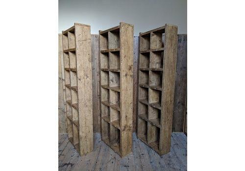 3x RECLAIMED SCAFFOLD BOARD CORNER SHELVES WOODEN  INDUSTRIAL RUSTIC WOOD SHELF