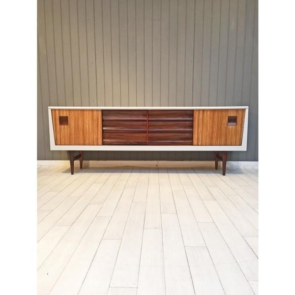 French Grey Walnut Mid Century Sideboard