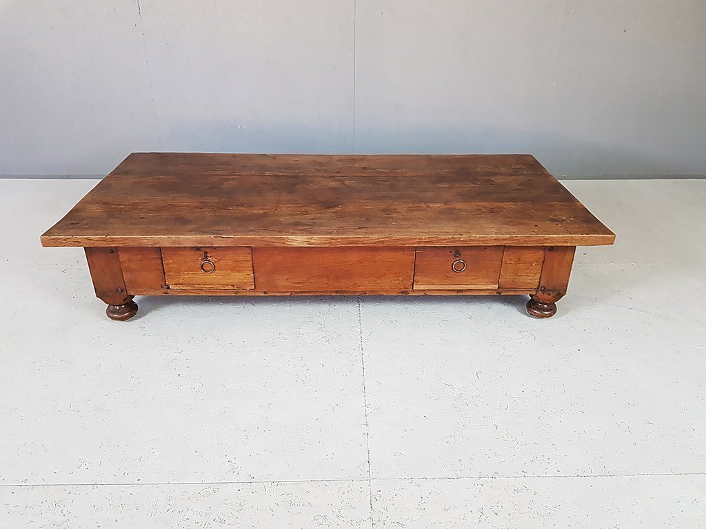 Massive Antique Rustic French Farmhouse Coffee Table Late 19th