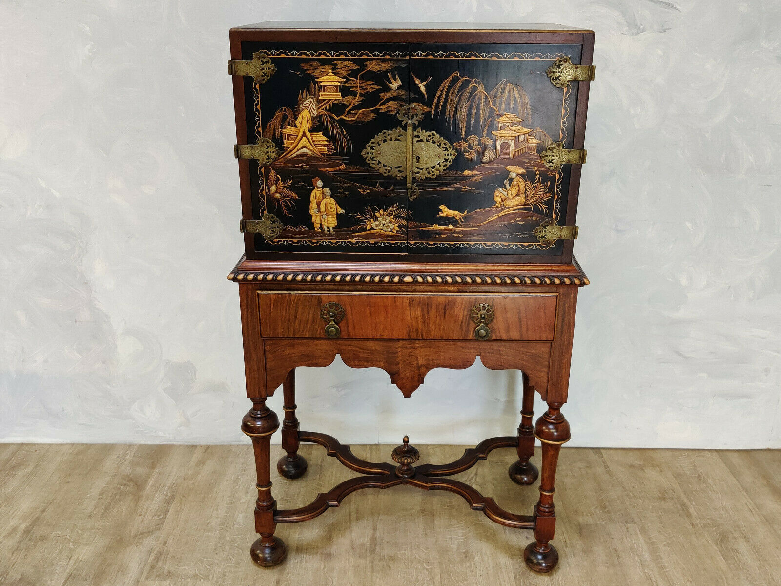 1920s Chinese Style Cabinet On Stand