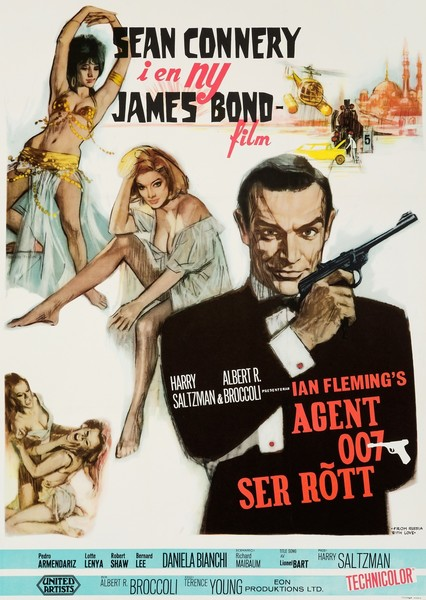 James Bond 'From Russia With Love' Original Vintage Swedish Film Poster By Renato Fratini, 1964