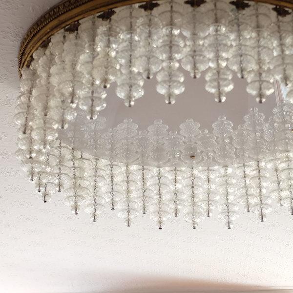 Vintage Mid Century Modern Murano Glass Chandelier | Chairish