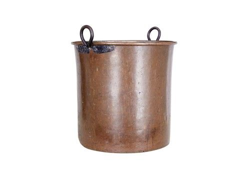 Large Arts And Crafts Copper Log Bin