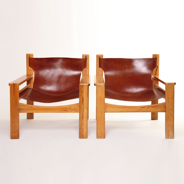 Borge Mogensen Spanish Style Leather Armchairs