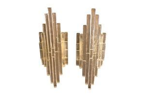 Thumb albano poli for poliarte iconic stacked glass set of two wall sconces circa 1960 0