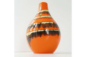 Thumb superb vintage vase 1960 1970 in ceramic 60s 70s years 60 70 orange 0