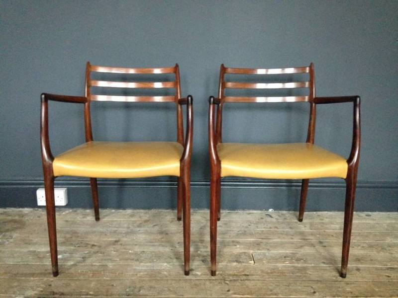 A Pair Of Niels Moller Model 62 Rosewood Armchairs