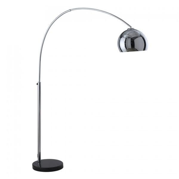 Large Chrome Arc Lamp