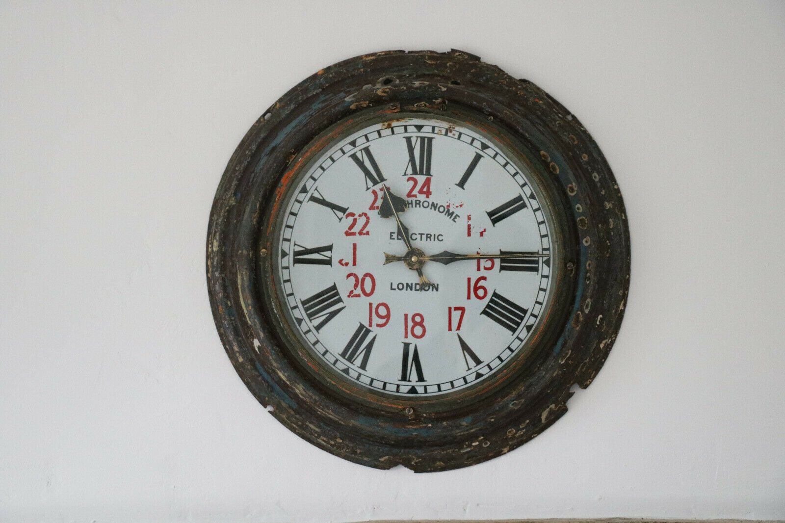 Antique Railway Clock Vintage