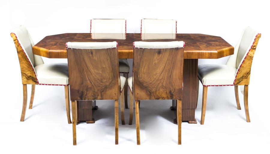 Art Decor Burr Walnut Dining Set photo 1