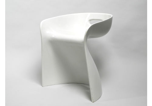 Very Rare White Stool By Winfried Staeb From The 1970s For Form + Life Collection