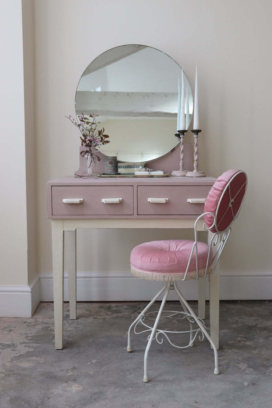 60s Boudoir Style Dressing Table Chair
