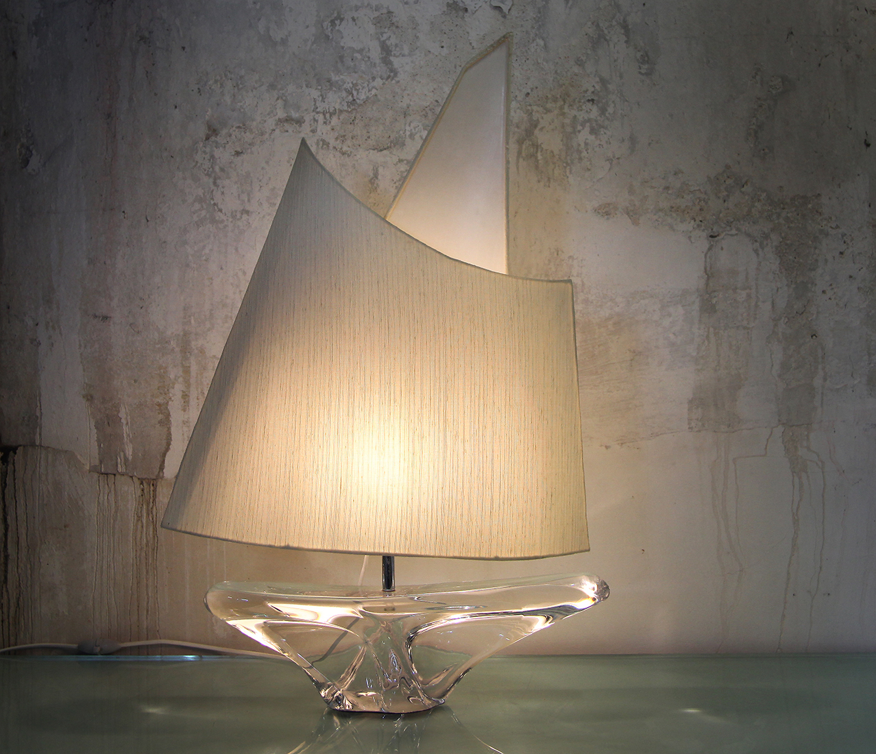 Crystal art table lamp for Daum France