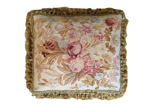 Handmade Rug Decorative Pillows, French Style Aubusson Rug The Pillow Cushion Cover