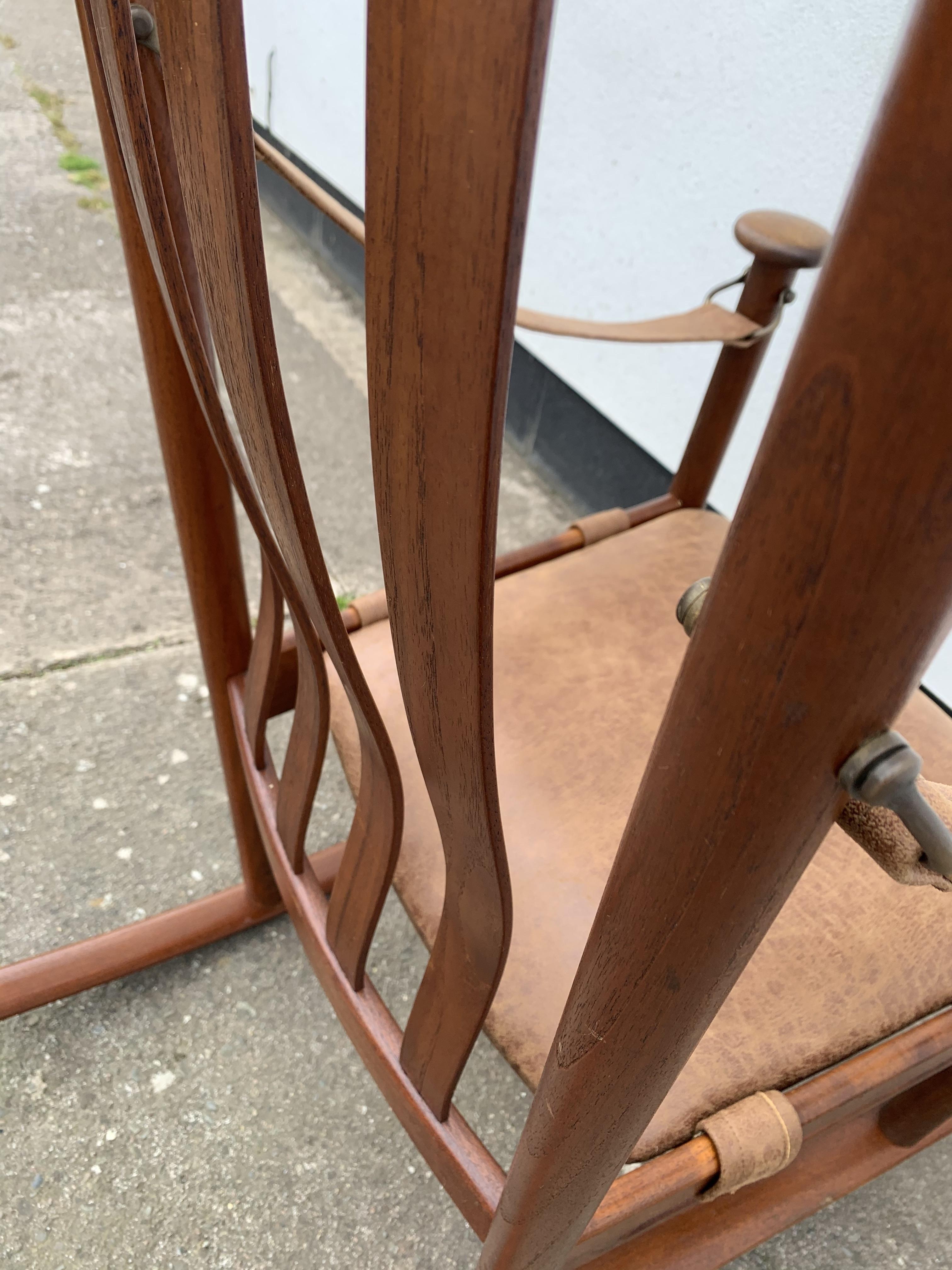Picture of: Mid Century Danish Teak Rocking Chair Vinterior