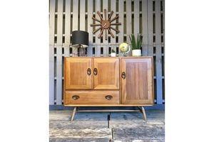 Thumb ercol vintage retro solid elm sideboard cabinet 0
