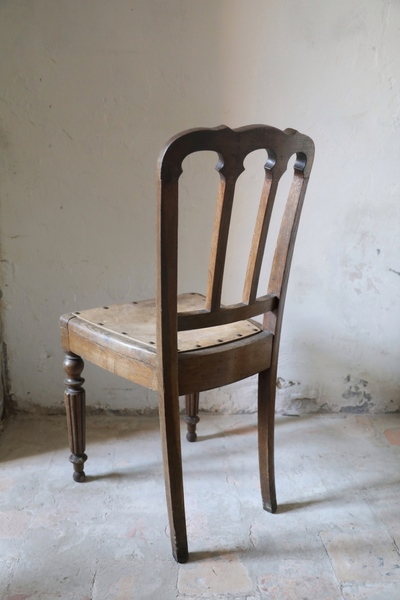 Antique French Wooden Dining Chair Vinterior