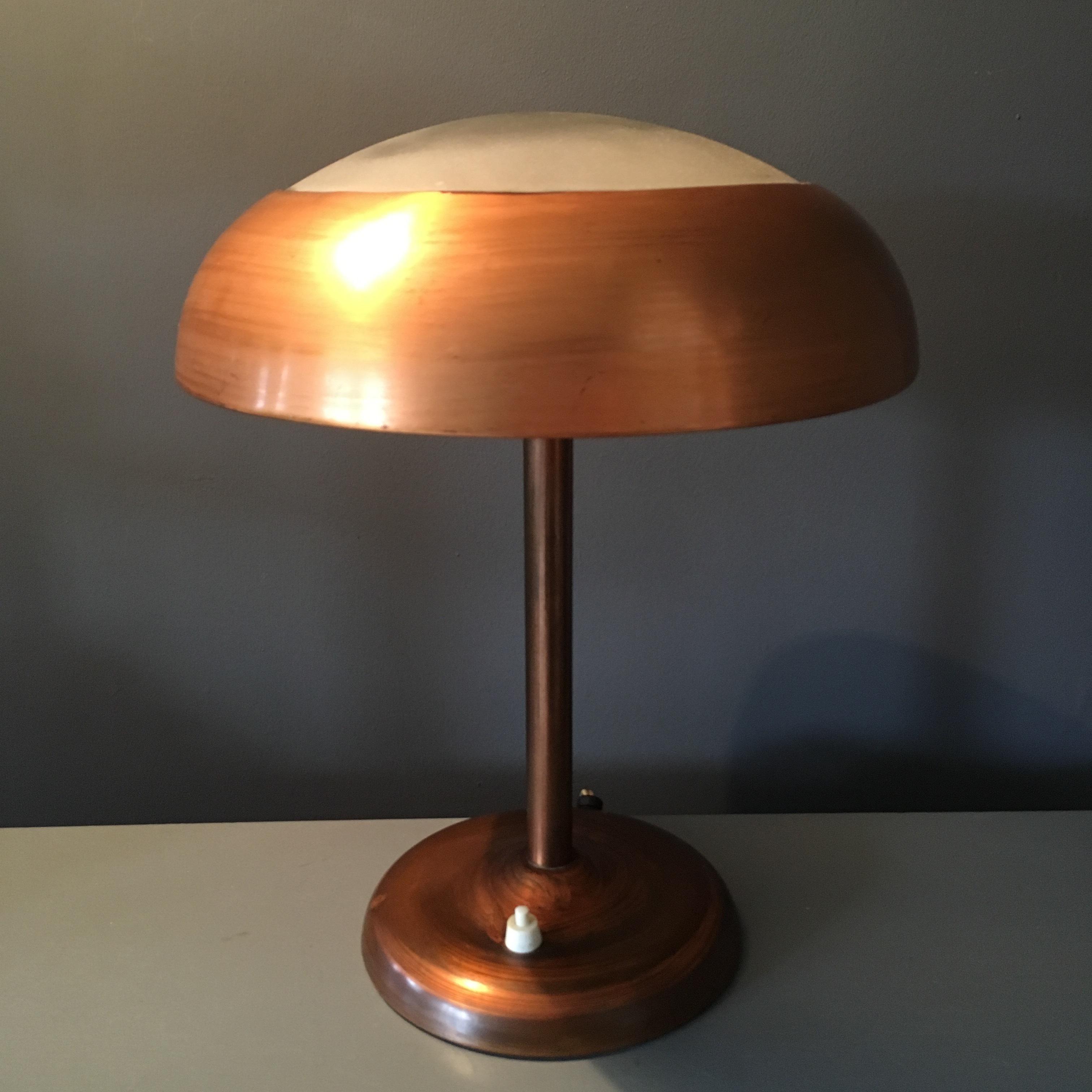 1930's Art Deco Copper Desk Lamp