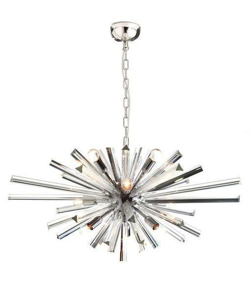 Sputnik Chandelier Murano Glass Transparent