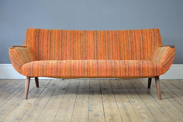 Stunning Orange Dutch Sofa photo 1