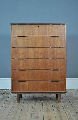 Large Danish Chest Of Drawers With Lipped Handles photo 1
