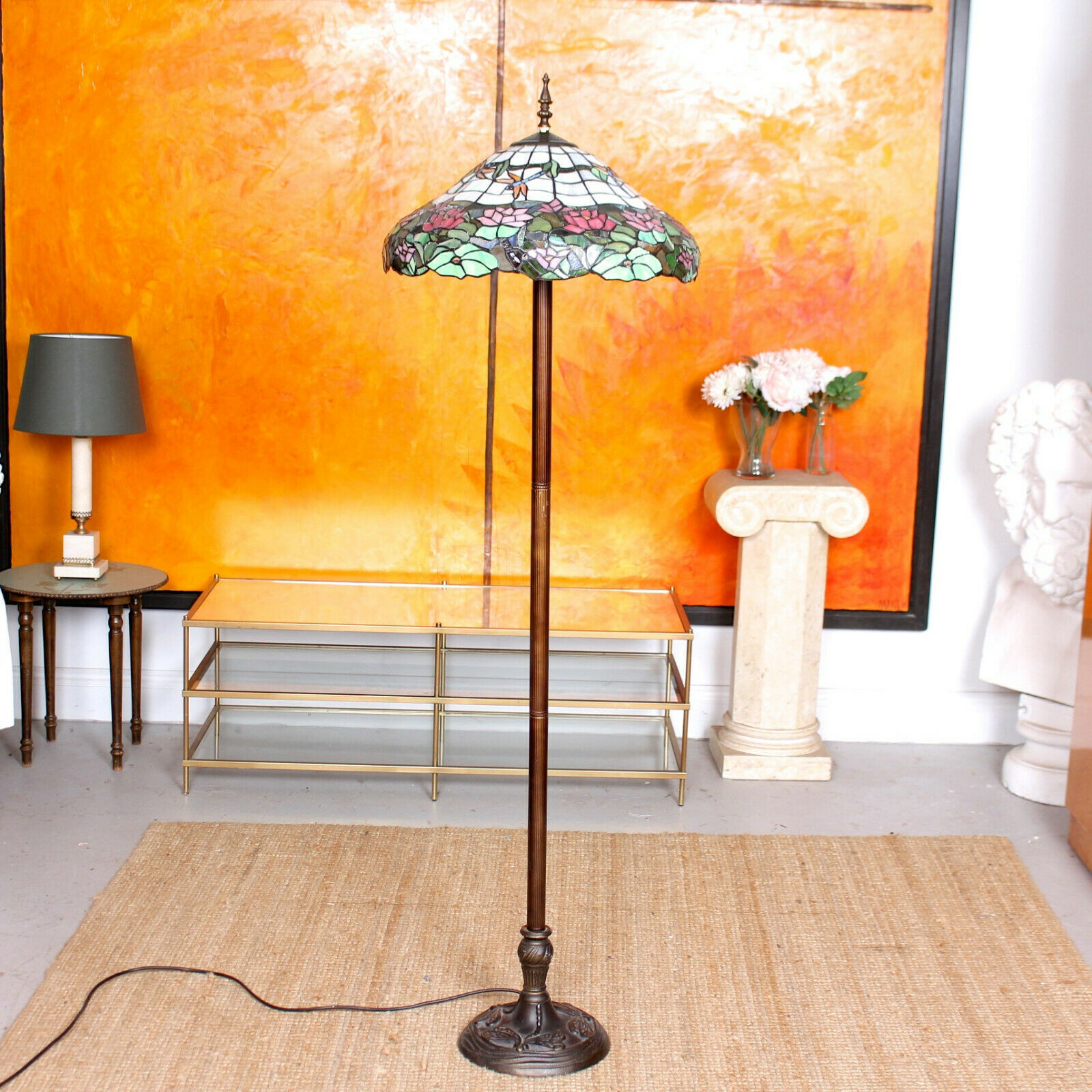 Tiffany Floor Lamp Stained Glass Standard Lamp Fine Quality Vinterior