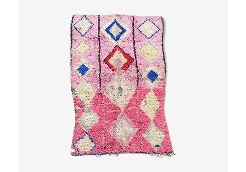 Boho Chic Moroccan Rug 125x200cm, Vintage Boucherouite Berber Rug