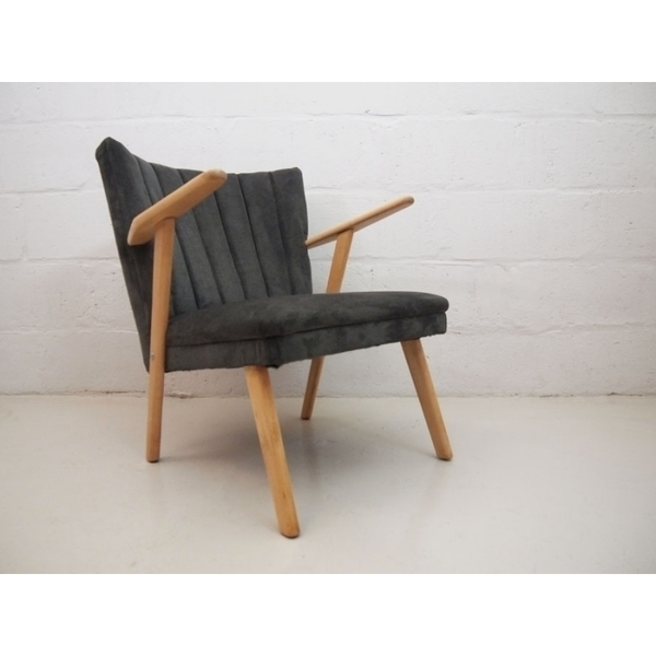 Vintage Grey Danish Cocktail Chair