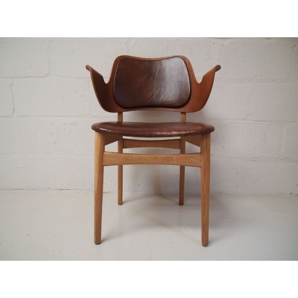 Hans Olsen For Bramin Brown Leather Chair photo 1