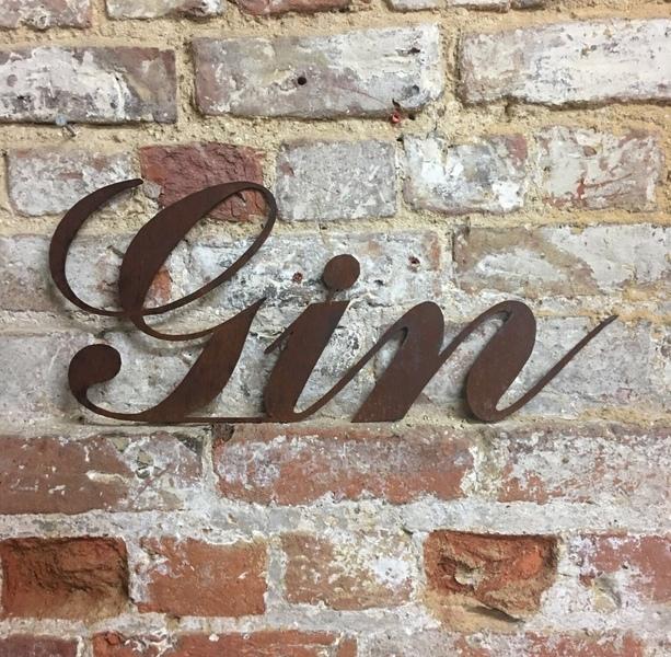 Rusty VINTAGE Lettering Letters Sign Metal Home bar Pub Vintage Rustic Wedding