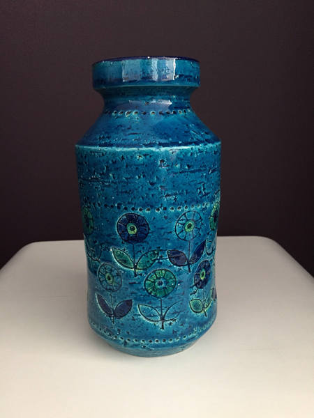 A Beautiful Hand Made Turquoise Ceramic Vase