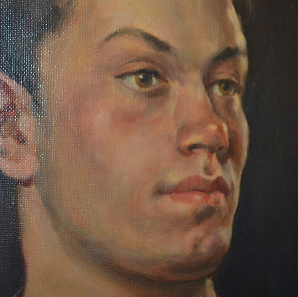 Oil On Canvas; E Martin, Portrait Of A Young Man