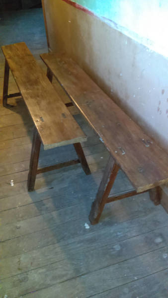Vintage French Farmhouse Kitchen Benches Collect From Us Or Ask For Courier Quote