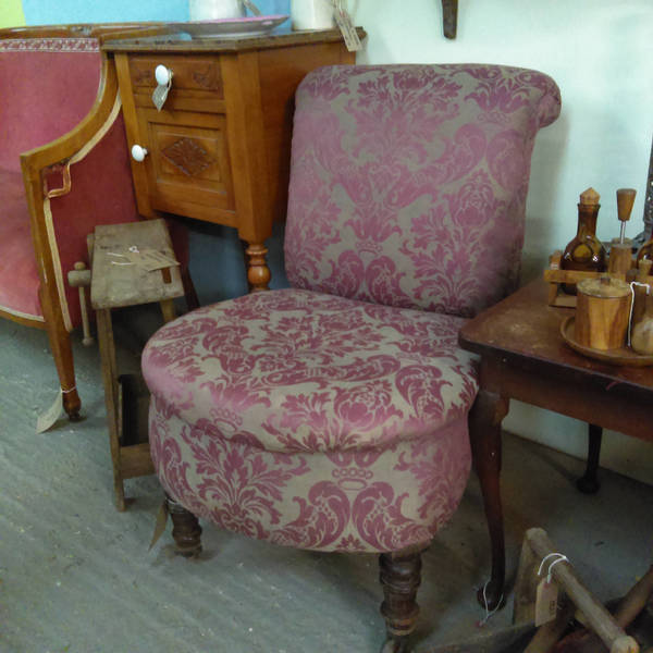 Antique Beautiful Scroll Back Bedroom Chair For Reupholstery Collect From Us Or Ask For Courier Quote