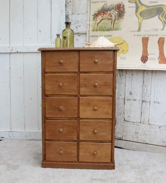 Vintage French Apothecary Drawers