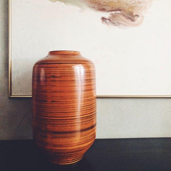 Large Vintage Ceramic Floor Vase