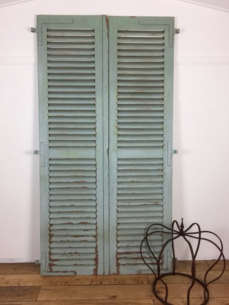 Vintage French Shutters Pair