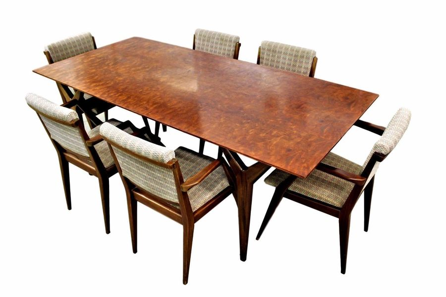 Heals Dining Suite Table And 6 Chairs Vintage Retro Mid Century 50s 60s Danish