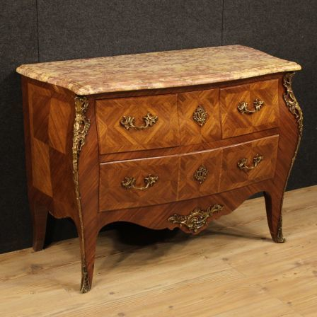 French Dresser In Louis Xv Style With Marble Top