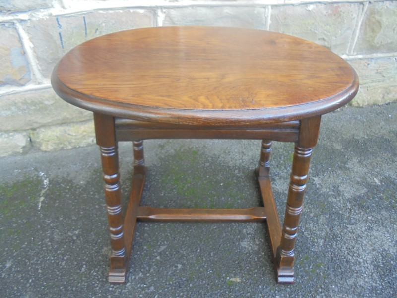 Antique Edwardian Oak Coffee Table